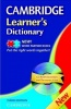 Cambridge Learner's Dictionary with CD-ROM / Cambridge, 2010